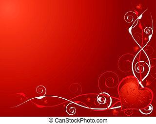 hjärta, kärlek, invitera