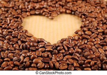 hjärta, kaffe