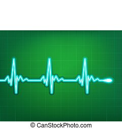 hjärta, kardiogram, eps, djup, den, 8, skugga, red.