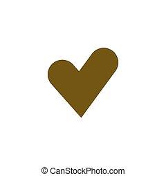hjärta, kardiogram, ikon