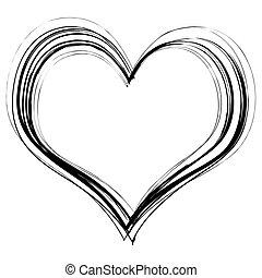 hjärta, klottra
