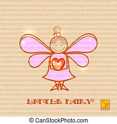 hjärta, litet, bakgrund, räcker, fe, papp