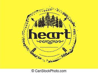 hjärta, logo