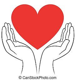 hjärta, människa lämnar