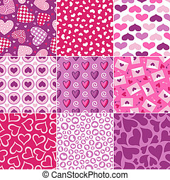hjärta mönstra, valentin, seamless