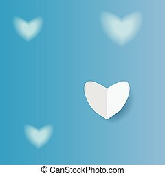 hjärta, papper, bakgrund