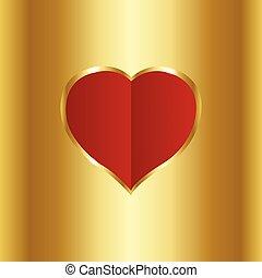 hjärta, papper, röd