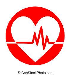 hjärta, pulsera