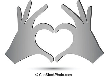 hjärta, räcker, ikon