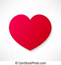 hjärta, röd