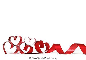 hjärta, ram, valentinbrev