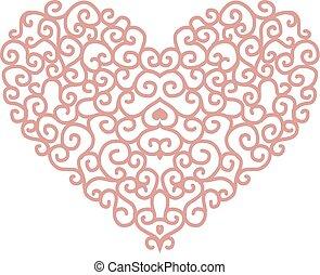 hjärta, sammandrag formge, form, din