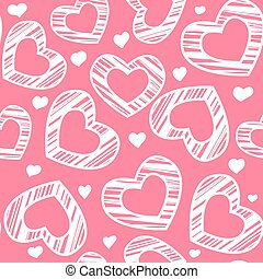 hjärta, seamless, mönster