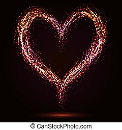 hjärta, stickande