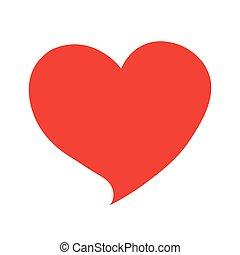 hjärta, symbol, anförande, röd, bubbla