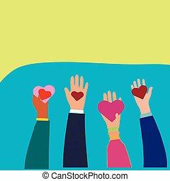 hjärta, symbol., gårdsbruksenheten räcker