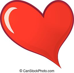 hjärta, symbol, kärlek