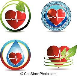 hjärta, symbol, mänsklig