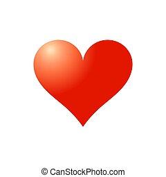 hjärta, symbol., röd