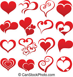 hjärta, symbol, sätta
