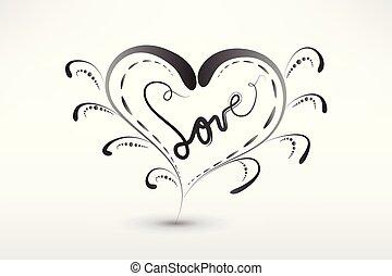 hjärta, symbol, valentinkort, kärlek