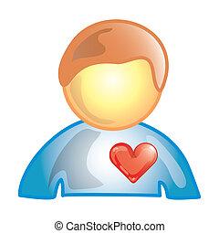hjärta tåliga, ikon