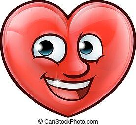 hjärta, tecknad film, maskot