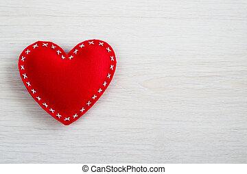 hjärta, valentinkort dag