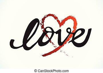 hjärta, valentinkort, kärlek