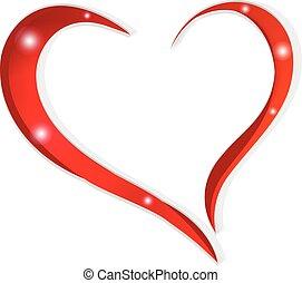 hjärta, valentinkort, kärlek, dag