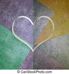 hjärta, valentinkort, transparent, kort