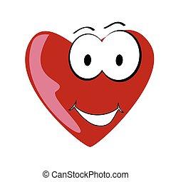hjärta, vektor, konst, tecknad film, illustration