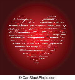 hjärta, vektor, love., illustration., bakgrund.