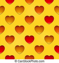 hjärtan, beige