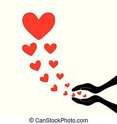 hjärtan, fluga, up4