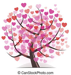hjärtan, träd