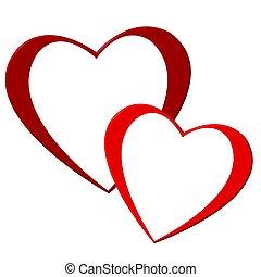 hjärtan, två