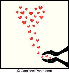 hjärtan, up6, fluga