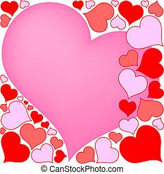 hjärtan, valentinbrev