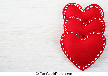 hjärtan, valentinkort dag