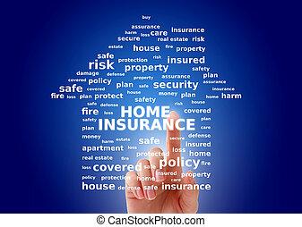 hjem, concept., forsikring