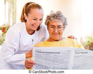hjem, elderly omsorg