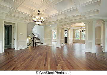 hjem, foyer, konstruktion, nye