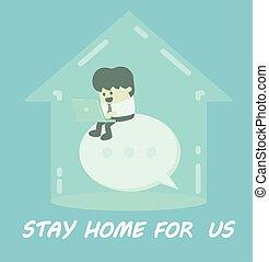 hjem, os, ophold