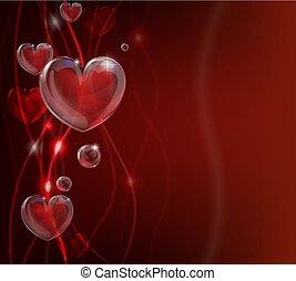 hjerte, abstrakt, dag valentines, backg