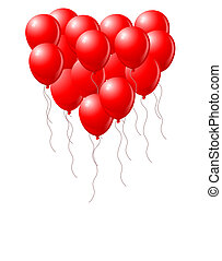 hjerte, balloner