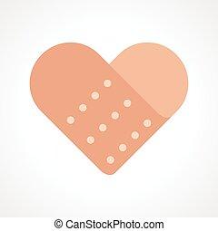hjerte, band hjælpemiddel