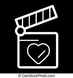 hjerte, begreb, constitutions, clapper, symbol., planke, design.