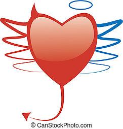 hjerte, begrebsmæssig, symbol