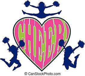 hjerte, cheer